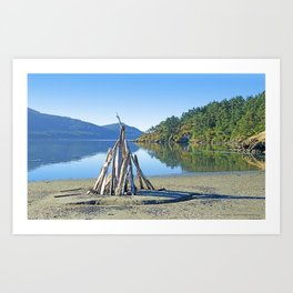 LATE SUMMER ON CRESCENT BEACH ORCAS ISLAND Art Print