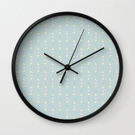 Grey Pastel Geometric Pattern Wall Clock