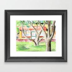 Street Scene III Framed Art Print