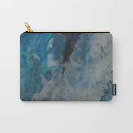 Silver Scape, abstract poured acrylic Carry-All Pouch