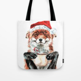 Morning Fox Christmas Tote Bag
