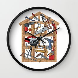 Home Construction Wall Clock