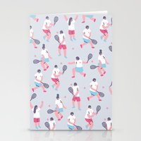 tennis Stationery Cards featuring Tennis by Sara Maese