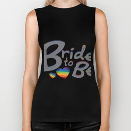 LGBT Wedding Bride to Be Lesbian Bride Biker Tank