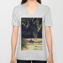 Yellow Wood in Shade Unisex V-Neck