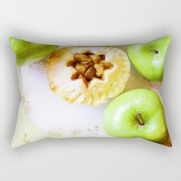 Mini Apple Pie with Green Apples Rectangular Pillow