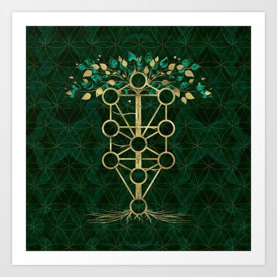 Kabbalah The Tree of Life - Etz Hayim by k9printart
