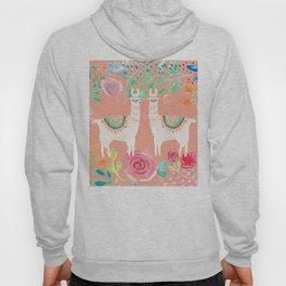 Llama in a floral frame Hoody
