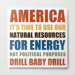 American Energy Metal Print