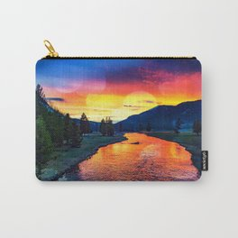Sunset at Yellowstone Carry-All Pouch