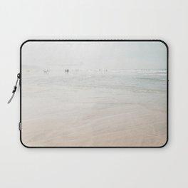 At the Beach (six) - minimal beach series by Ingrid Beddoes Laptop Sleeve