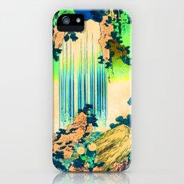 yoro waterfall in mino province remix in green iPhone Case