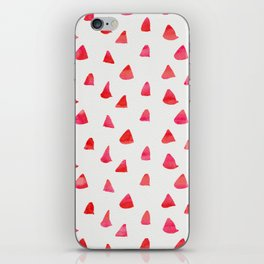 Watercolor pink red abstract geometrical triangles pattern iPhone Skin