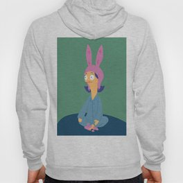 Louise in her bunny slippers Hoody