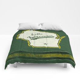 Hello Wisconsin Comforters