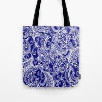 batik Tote Bags featuring paisley batik by Ariadne