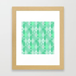 Green Lily Bear Framed Art Print