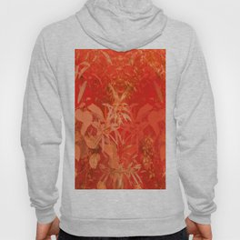 Beautiful red foliages - illustration of garden Hoody