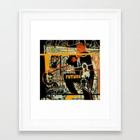 freud Framed Art Prints featuring Freud III. by Zsolt Vidak