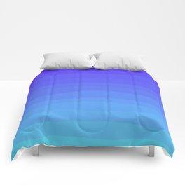 Cobalt Light Blue gradient Comforters