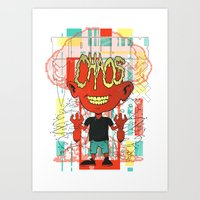 chaos Art Prints featuring Chaos by Tshirt-Factory