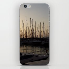 Yacht anchored at sunset iPhone Skin