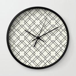 Simply Mod Diamond Black and Cream Wall Clock