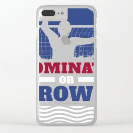 Funny Water Polo print | Dominate or Drown Gift product Clear iPhone Case