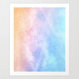 Pink Cotton Candy Sky Art Print