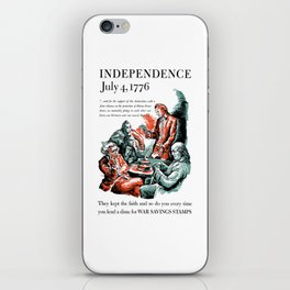July 4, 1776 - Lend A Dime For War Savings Stamps iPhone Skin