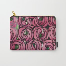 "Charles Rennie Mackintosh ""Roses and teardrops"" Carry-All Pouch"