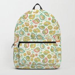 Hedgehog Paisley_Green outline Backpack