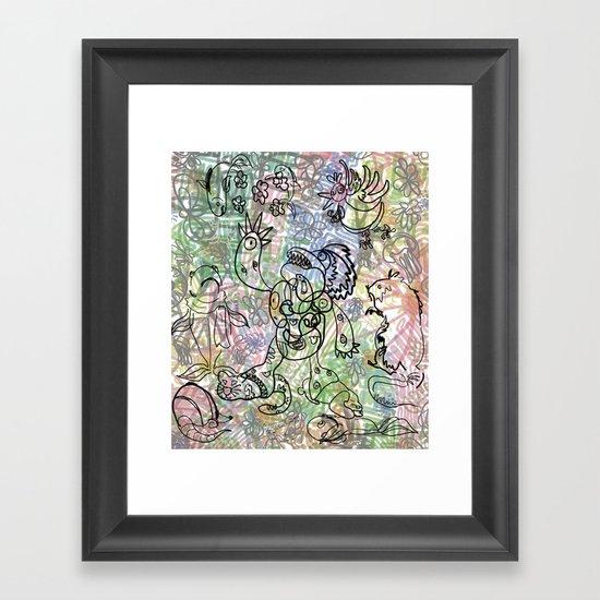 Anymanimals+Whatlifethrowsatyou    Nonrandom-art1 Framed Art Print