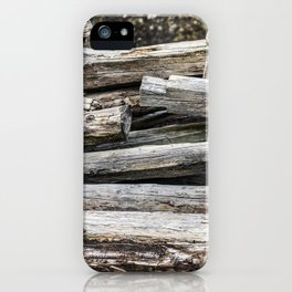 Hand Cut Lumber From Dismantled Log Barn 2 iPhone Case
