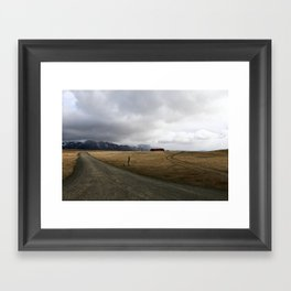 Amazing Landscape in Iceland Framed Art Print