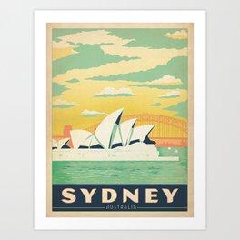 Vintage poster - Sydney Art Print