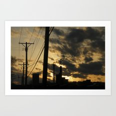 combustion sky Art Print