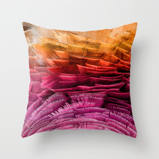 Throw Pillows Ruffle : RUFFLED Throw Pillow by Catspaws Society6