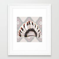 headdress Framed Art Prints featuring Headdress by Ezgi Kaya