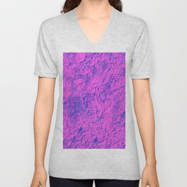 Textured Pink And Blue Unisex V-Neck