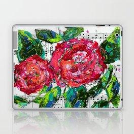 Melody - Floral - Piano notes Laptop & iPad Skin