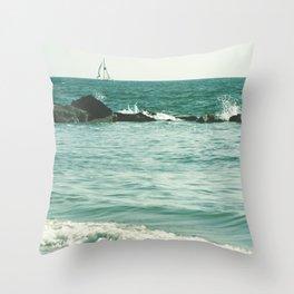 Sail Away, Sail Away. Throw Pillow