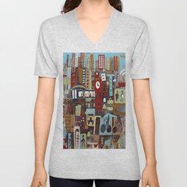 City, City Unisex V-Neck