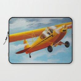Yellow Plane, Blue Sky Laptop Sleeve