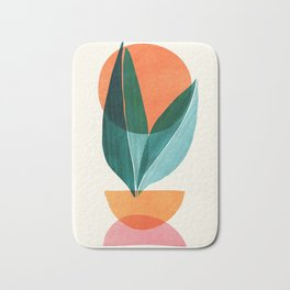 Nature Stack II / Abstract Shapes Illustration Bath Mat