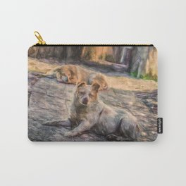 Two dogs resting Carry-All Pouch