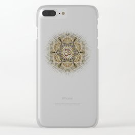 Bohemian Yoga Om Geometry Clear iPhone Case