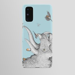 Triceratops and Birdies Android Case