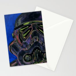 dark stormtrooper with 4 eyes Stationery Cards