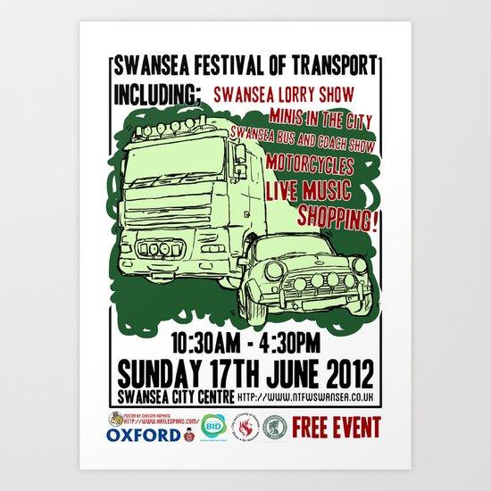 SWANSEA FESTIVAL OF TRANSPORT Art Print